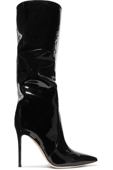 2730a3fa926 Gianvito Rossi Heather 105 Black Patent Leather Boots | ModeSens