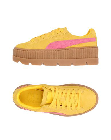 the latest 82ebf d8b82 Fenty By Puma Cleated Suede Creeper Sneakers In Yellow
