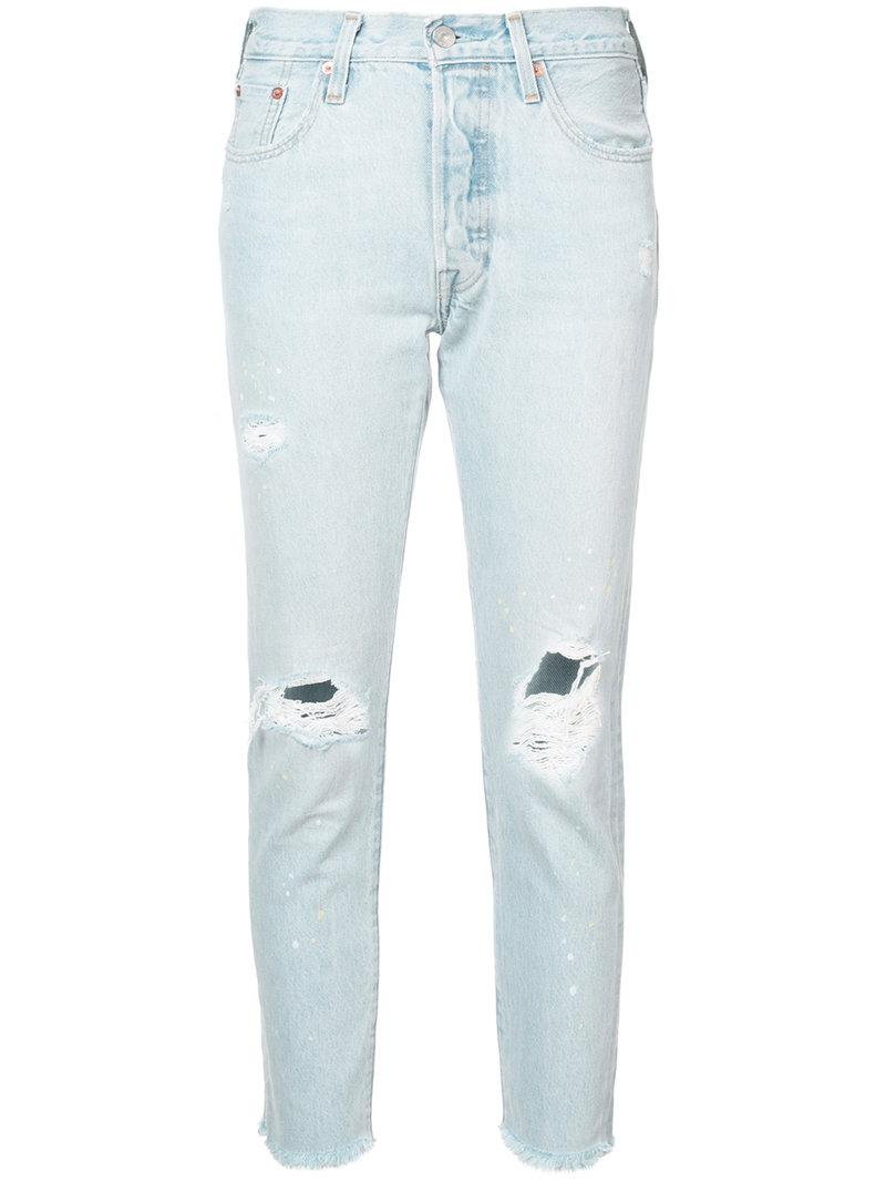 4e272a04ee94 Levi's 501 Skinny Jeans In Semi Charming In Blue | ModeSens