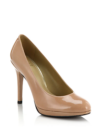 Stuart Weitzman Swoon 90Mm Leather Pumps In Adobe