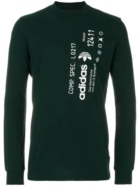 9c1f47f59d24 Adidas Originals By Alexander Wang Aw Graphic Long Sleeve Tee In Green