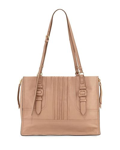 1d5499eca8d497 Prada Etiquette Large Glace Calf Shoulder Bag In Beige | ModeSens