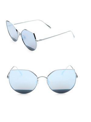 0cb3081672a0 Gentle Monster Us101 58Mm Mirrored Sunglasses In Medium Blue