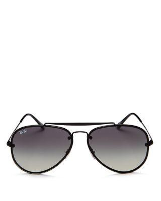 87e93392a4 Ray Ban 61Mm Gradient Lens Aviator Sunglasses - Shiny Black