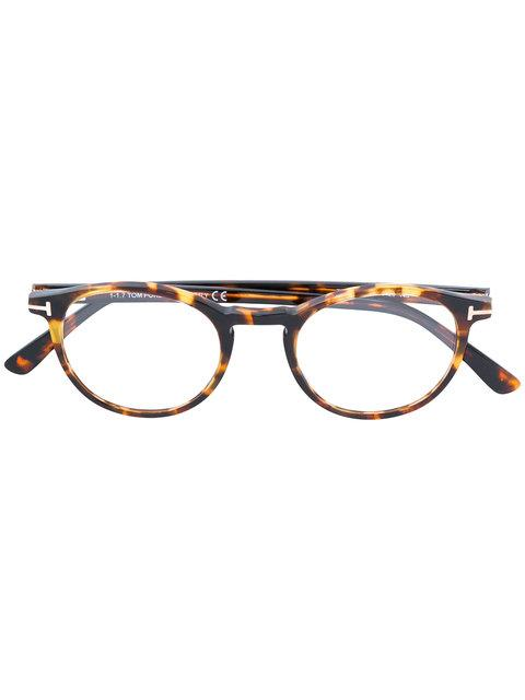 Tom Ford Round-frame Glasses In Brown