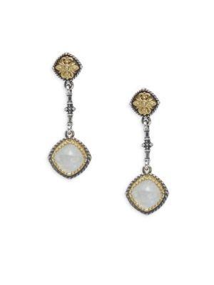 Konstantino Labradorite, Sterling Silver & 18K Yellow Gold Earrings