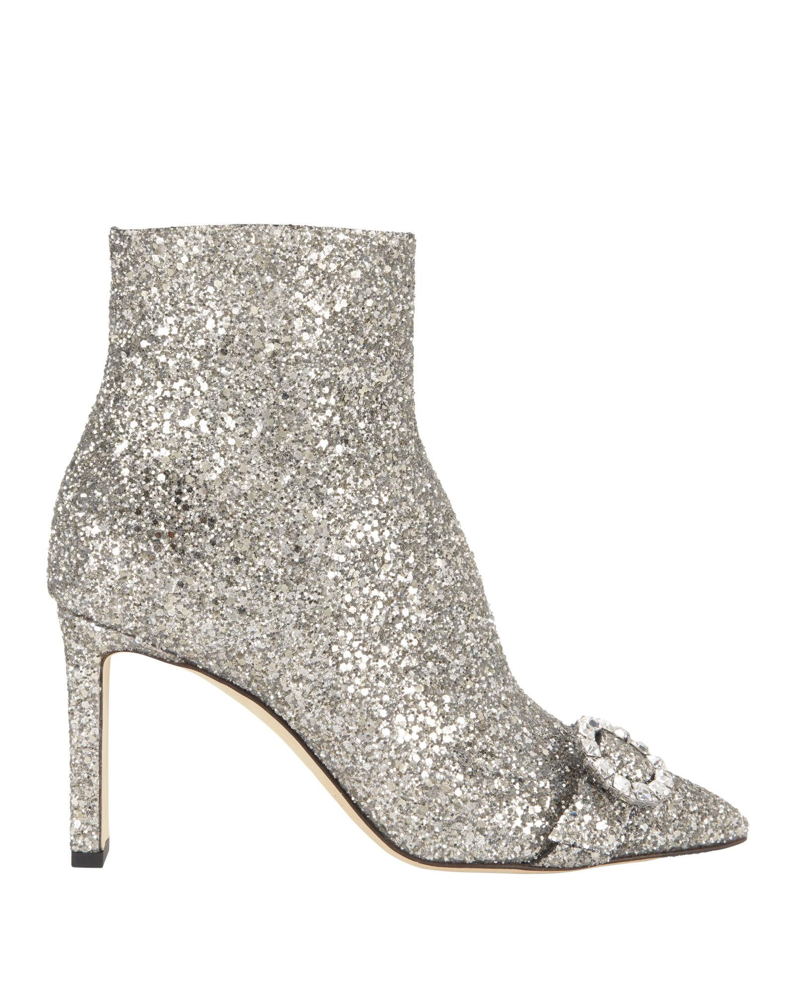 64a049955a95 Jimmy Choo Hanover Glitter 65Mm Booties In Gray