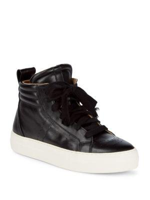 Helmut Lang Enya Hi-Top Leather Sneakers In Black