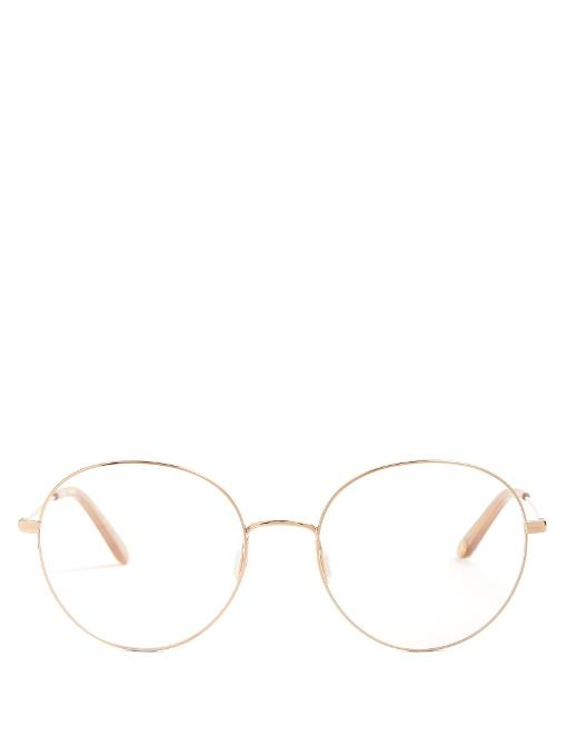 f477abea22 Garrett Leight Valencia 54 Round-Frame Glasses In Rose Gold