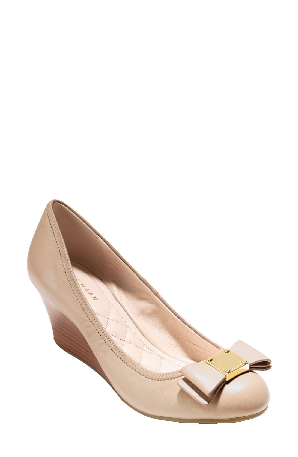 133a7f911 Cole Haan Women's Tali Grand Leather Wedge Pumps In Maple Sugar ...
