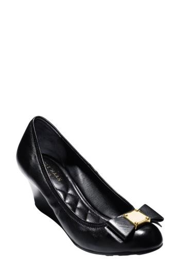 d163e68f41d Cole Haan  Tali Grand  Bow Wedge Pump In Black