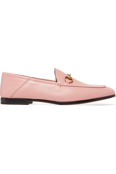 4af2660ae61 Gucci Brixton Horsebit-Detailed Leather Collapsible-Heel Loafers In Baby  Pink