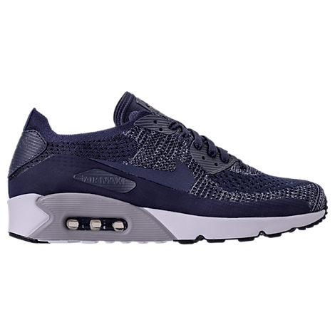 best service be699 6b536 Nike Men s Air Max 90 Ultra 2.0 Flyknit Running Sneakers From Finish Line  In Blue