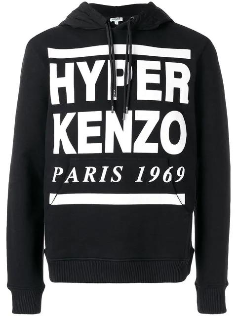 27f6f722 Kenzo Hyper Logo Hoodie In Black | ModeSens