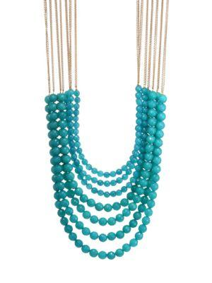 Rosantica Mini Raissa Quartz Necklace In Light Blue