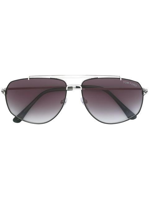 Tom Ford Eyewear Georges太阳眼镜 - 金属色