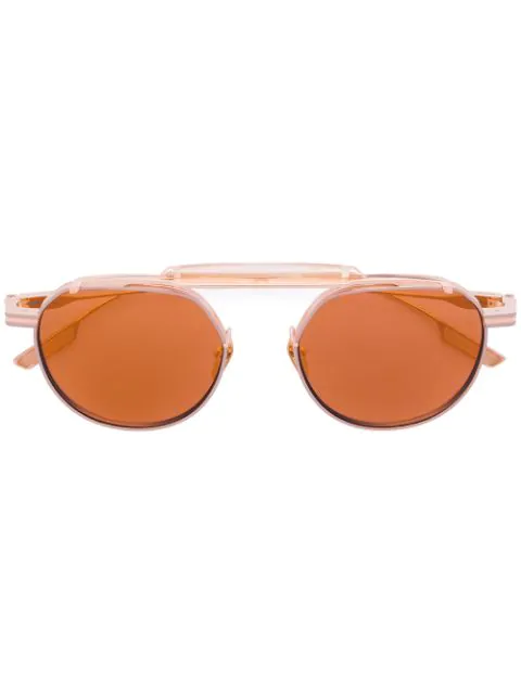 Jacques Marie Mage Round Frame Sunglasses In Metallic