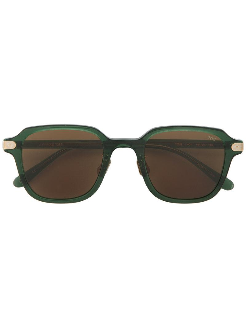 Eyevan7285 Square Frame Sunglasses In Green