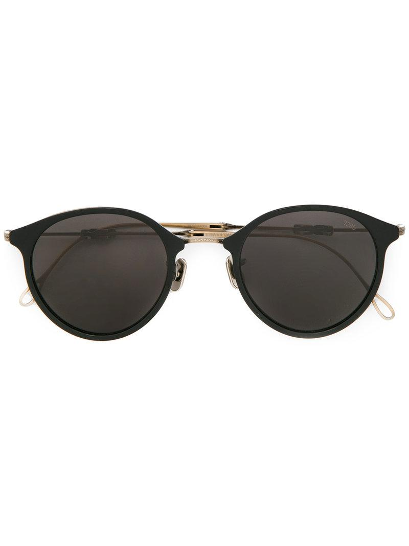 Eyevan7285 Round Frame Sunglasses - Black