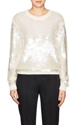 Marc Jacobs Paillette-Embellished Crewneck Sweater In Ivorybone