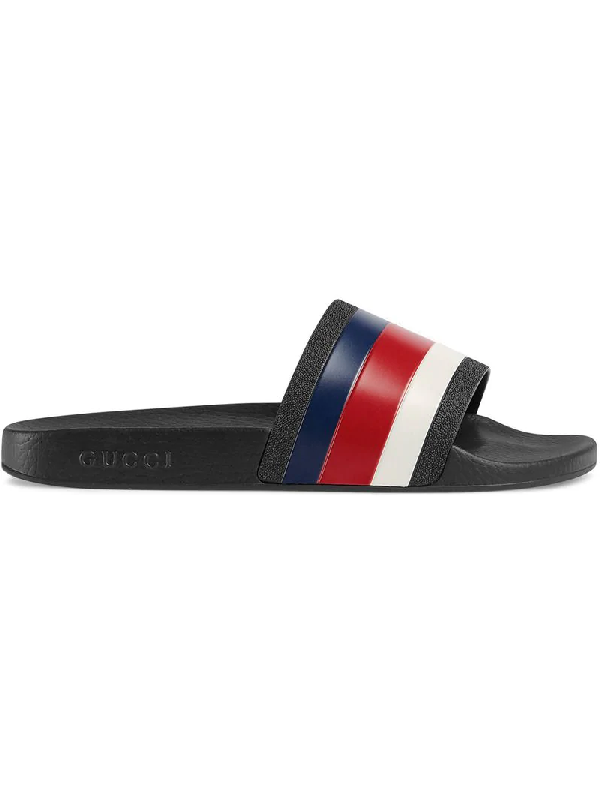 Gucci Pursuit '72 Rubber Slide Sandal In Black