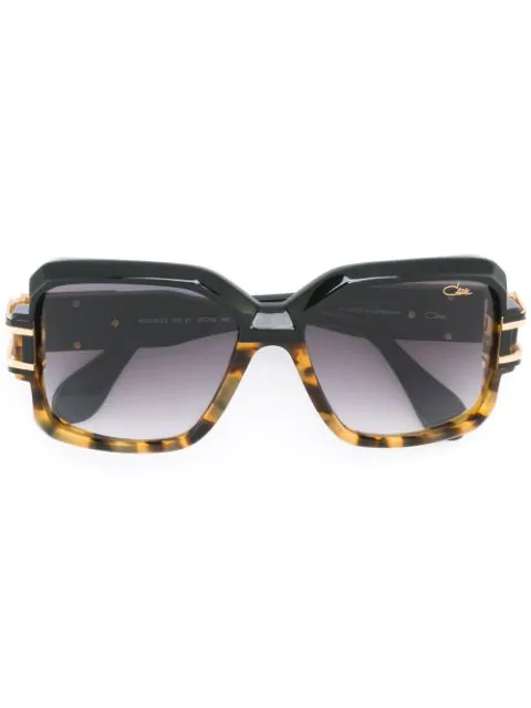 Cazal Square Sunglasses In Black