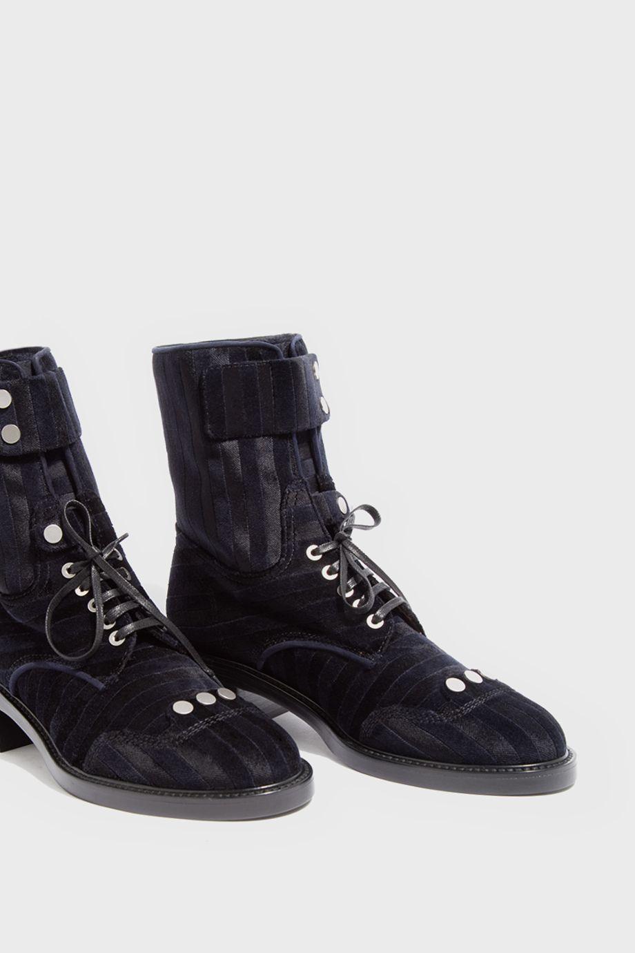 bf382c71c68 Manu Velvet Ankle Boots