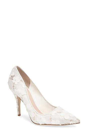 3e8ddce62 Kate Spade 'Licorice Too' Pump In Off White Flower Lace | ModeSens