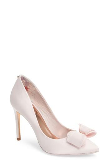 dc6a035c3 Ted Baker Azeline Bow Pump In Light Pink Fabric