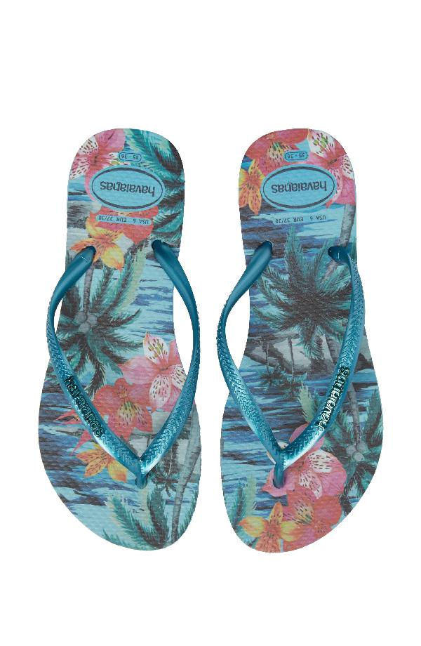 da41e347ac26 Havaianas  Slim Tropical  Flip Flop In Mint Green