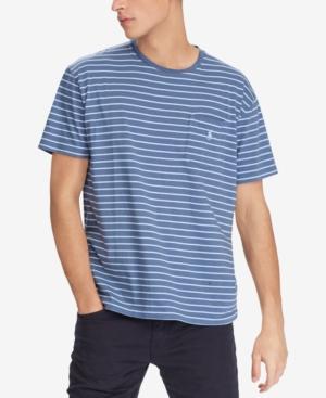 e1fe3882b4 Polo Ralph Lauren Slim-Fit Striped Cotton-Jersey T-Shirt In Shale Blue