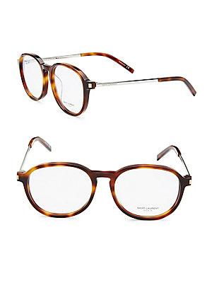 Saint Laurent 53Mm Optical Glasses In Light Havana