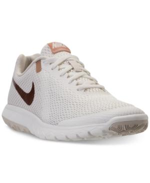 d5cccbd901e9 Nike Women s Flex Experience Run 6 Running Sneakers From Finish Line In Sail Metallic  Rose