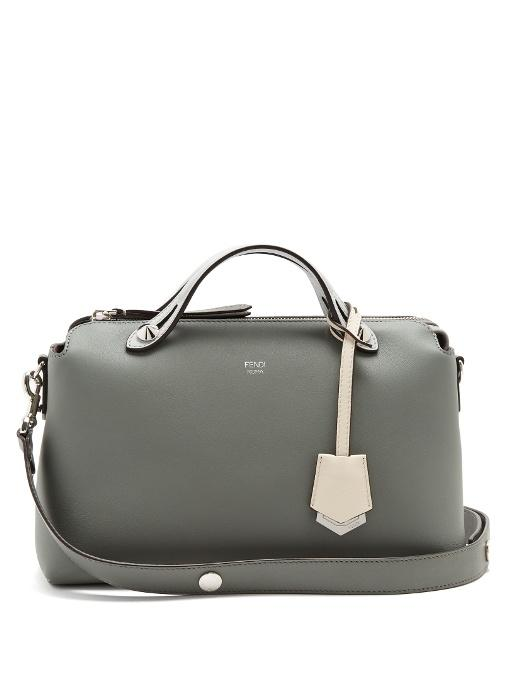 f89f33ee2f Fendi By The Way Tri-Colour Leather Bag In Light Grey