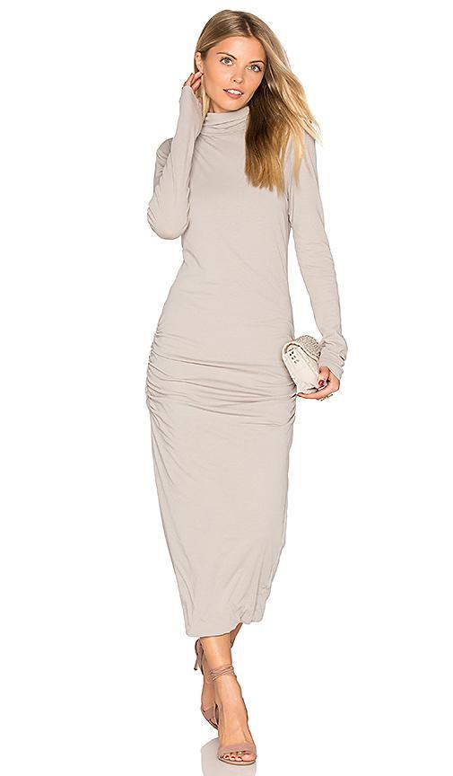 c8c468901c19 James Perse Turtleneck Midi Dress In Light Gray