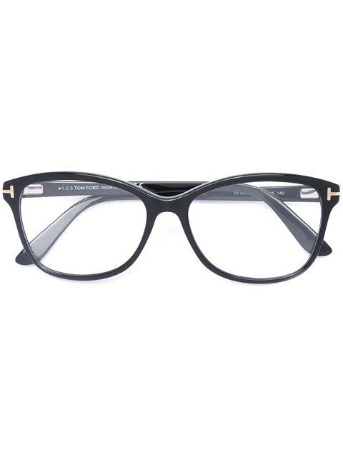 tom ford eyewear brille in schmetterlingsform schwarz. Black Bedroom Furniture Sets. Home Design Ideas