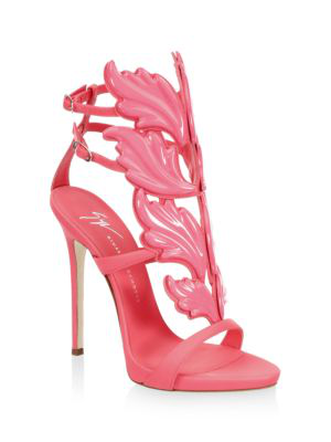 f3f27cc8c8782 Giuseppe Zanotti Women's Cruel Coline Leather Wing Embellished High Heel  Sandals In Rosa