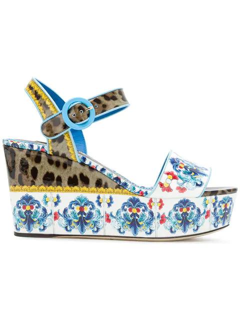 bf5d7a8f6c5 Dolce   Gabbana Majolica   Leopard Print Flatform Sandal In Hhi83 ...