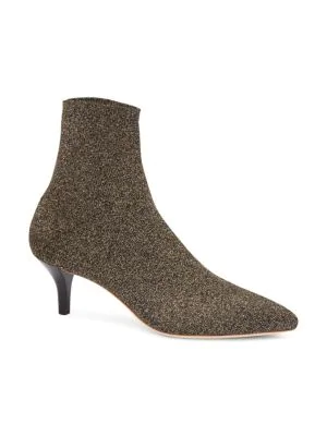 001d00439d8 Loeffler Randall Women's Kassidy Stretch Sock Booties In Gold | ModeSens