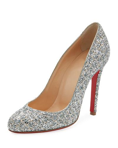 3d939caed1 Christian Louboutin Fifille Glittered Red Sole Pump In Silver | ModeSens