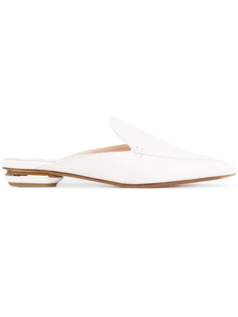Leather Backless Loafers Beya Grained White In EreBdCxoWQ