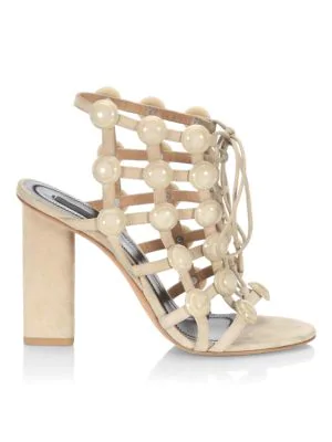 Alexander Wang Rubie Suede Sandals - Camel In Cashmere
