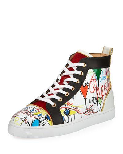 ad8713051b5 Christian Louboutin Louis Loubi Tag Men s Lace-Up Sneaker In White ...