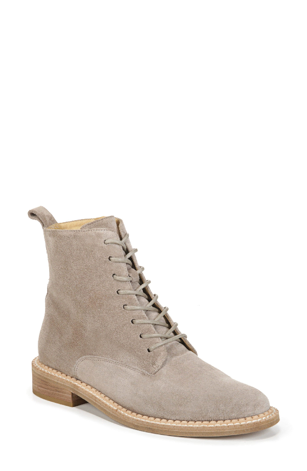 Vince Women's Cabria Suede Lace Up Boots In Light Woodsmoke