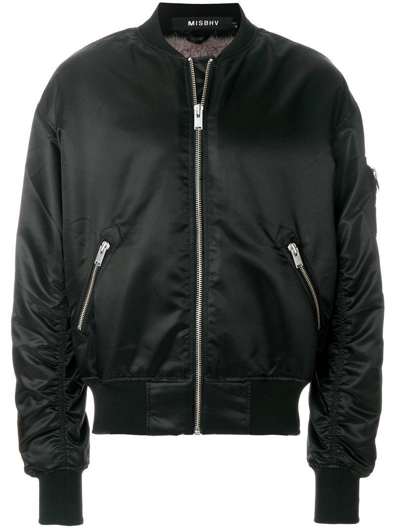 Misbhv Euphoria Print Bomber Jacket In Black