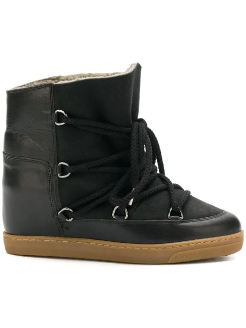 Isabel Marant Nowles Shearling-Lined AprÈS-Ski Boots In 01Bk