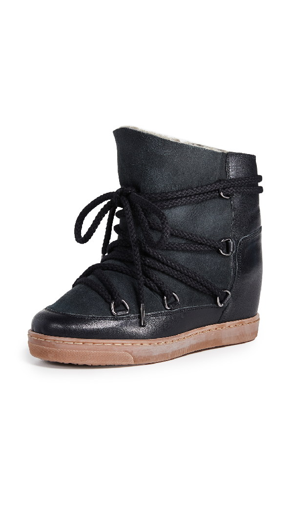 Isabel Marant Nowles Shearling-Lined AprÈS-Ski Boots In Black