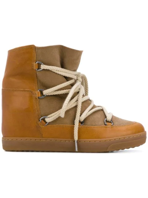 Isabel Marant Nowles Shearling-lined AprÈs-ski Boots In 01bk Black