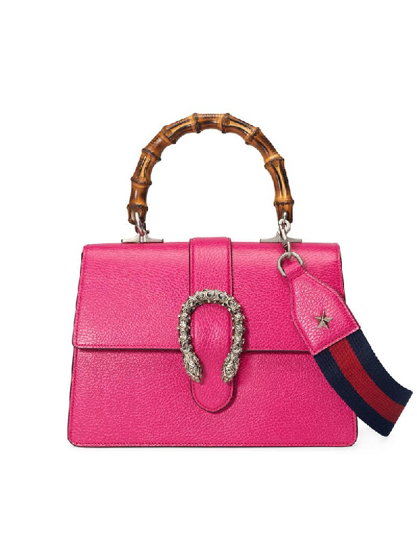 f313272be49 Gucci Dionysus Medium Leather Top-Handle Bag In 5770 Pink