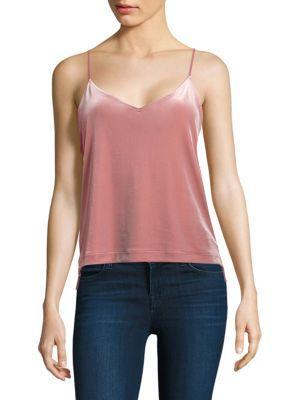 Rag & Bone Amber Velvet Camisole In Deep Pink